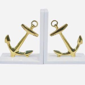⚜️Gold Anchor Book ends-2⚜️